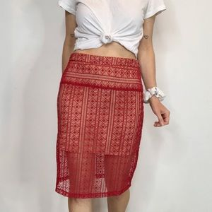 NWT ENGLISH FACTORY lace pencil skirt bodycon 1678